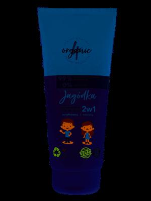 4organic Szampon i żel do mycia dla dzieci 2w1 Jagódka 200ml