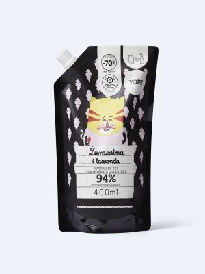 YOPE Refill naturalnego żelu pod prysznic dla dzieci Żurawina i lawenda, 400ml
