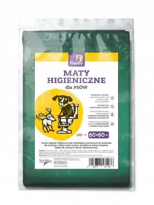 Maty higieniczne dla psów 100 szt. o rozmiarze 60x60 cm.