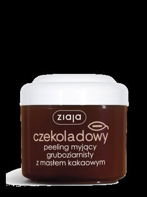 ziaja masło kakaowe czekoladowy peeling myjący gruboziarnisty, 200ml