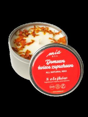 Domowa świeca zapachowa 8 olejków eterycznych łagodzących objawy przeziębienia