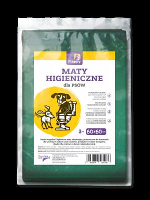 Maty higieniczne dla psów Flappy 3 szt. o rozmiarze 60x60 cm