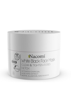 Nacomi maska biało - czarna 50 ml