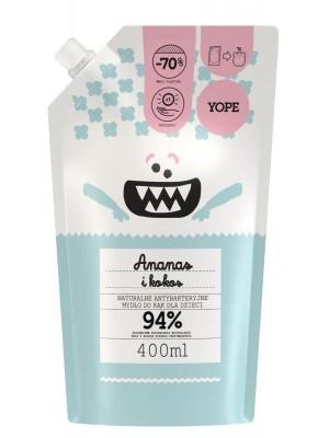 YOPE Ananas i Kokos - Refill Naturalne antybakteryjne mydło do rąk dla dzieci