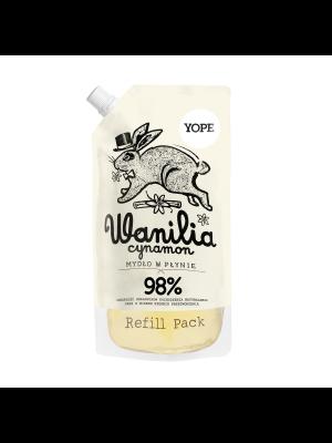 YOPE Wanilia i cynamon Naturalne mydło w płynie do rąk - refill