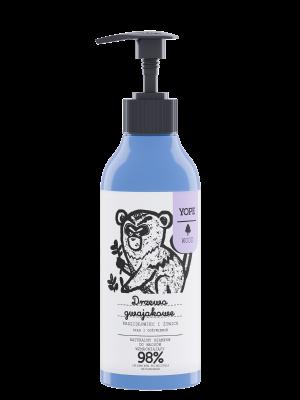 YOPE Wood Naturalny szampon wzmacniający do włosów Drzewo gwajakowe, kadzidłowiec i żywica