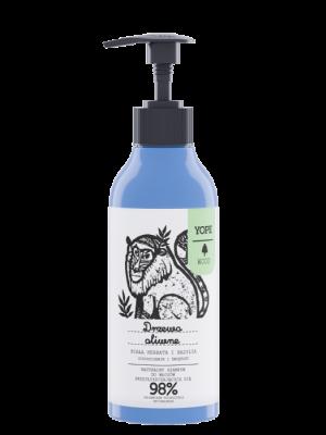 YOPE Wood Naturalny szampon do włosów przetłuszczających się Drzewo oliwne, biała herbata i bazylia