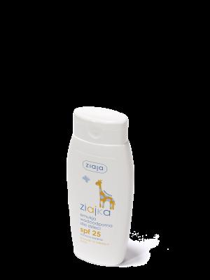 ziaja ziajka emulsja wodoodporna dla dzieci SPF 25 ochrona średnia UVA + UVB, 150ml